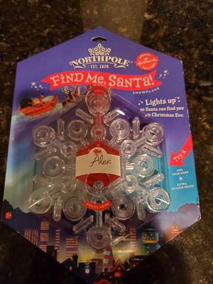 Hallmark Find Me Santa snowflake ornament for Sale in Ashburn, VA