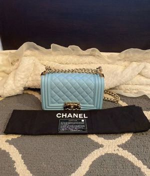 Light blue channel boybag for Sale in Los Angeles, CA