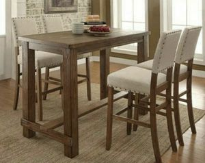 Bar Table in Rustic Oak Finish for Sale in West Covina, CA