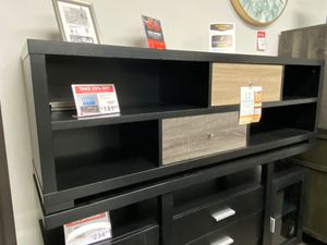 TV Stand, Black & Dark Taupe & Distressed Gray , 171963 for Sale in Downey, CA