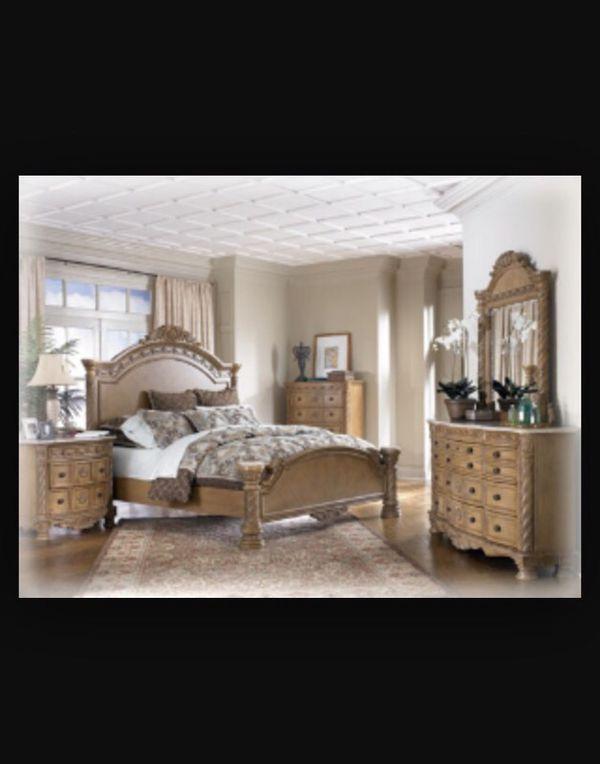 Ashley Furniture Marble Top King Bedroom Set South