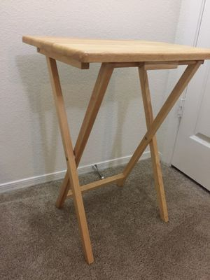 Tray table (dinner or snack table) (natural solid wood) for Sale in Phoenix, AZ