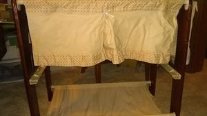 Wood bassinet with Moses basket for Sale in Aberdeen, WA
