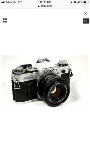 Canon AE-1 35mm Film Camera w/ 50mm 1:1.8 Lens for Sale in Hayward, CA