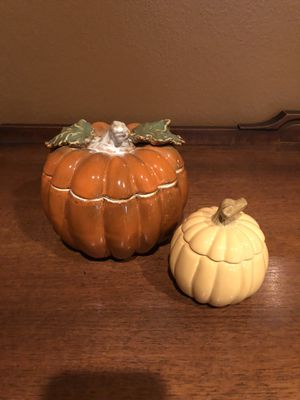 2 Harvest/Thanksgiving Pumpkins-Decor for Sale in Norco, CA