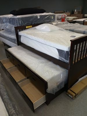 TWIN /TWIN TRUNDLE BED 5 Dollars is all you need to have the kids secret storage fun delivered today for Sale in Columbus, OH
