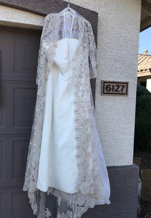 Never worn wedding dress size 16 for Sale in Peoria, AZ