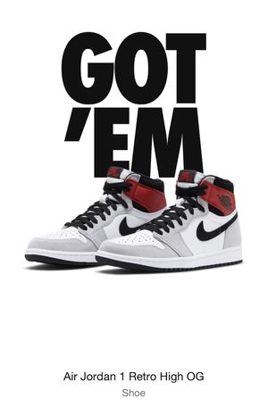 "Air Jordan 1 OG retro high ""Smoke Grey"" size 13 for Sale in Los Angeles, CA"