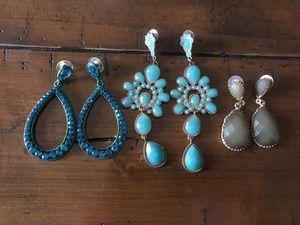 Lot of 3- Womens teal/ green earrings for Sale in Walnut Creek, CA