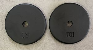 "Pair of 10lbs standard 1"" weight plates, par de discos de pesas de 10lbs for Sale in Palmetto Bay, FL"