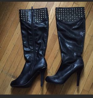 BCBG leather studded boot heels for Sale in Boston, MA