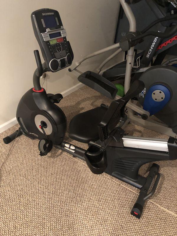 Schwinn Recumbent Exercise Bike 270 Like New