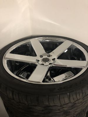 """Dub brand 24"""" aluminum wheels with tires. Great condition for Sale in Henderson, KY"""
