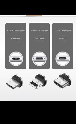 3in1 Magnetic USB Type C IOS Lighting Charger Charging Cable for Sale in Hazleton, PA