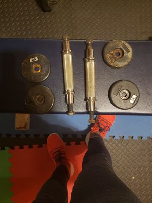 Dumbells handles heavy duty and pull ups bar for Sale in South Attleboro, MA