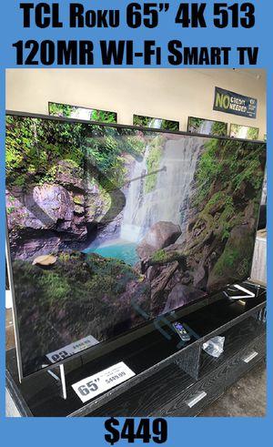 "S517 TCL Roku Smart 120Hz 65"" UHD 4K Smartcast LED TV!! BEAUTIFUL!!! for Sale in Tempe, AZ"