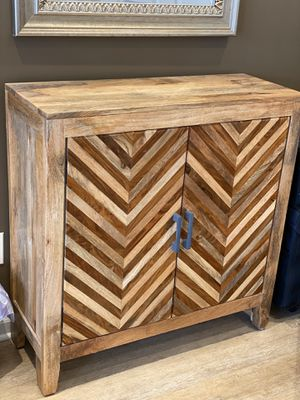 Gorgeous antique Solid mango wood accent cabinet for Sale in Aurora, IL
