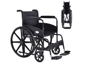 "Costway 24"" lightweight folding medical wheelchair for Sale in Paeonian Springs, VA"