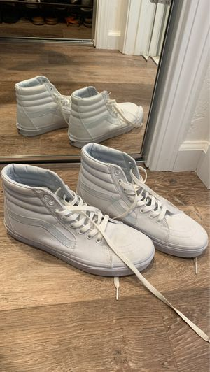 White High-Top Vans for Sale in Soquel, CA