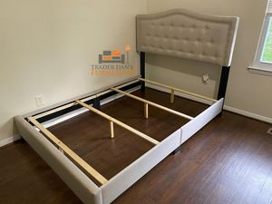 Brand New Queen Size Upholstered Bed Frame (New in Box) for Sale in Silver Spring, MD