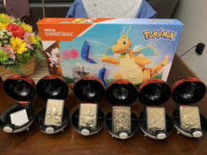 POKEMON POKEBALL 24K GOLD PLATED COLLECTABLE CARDS AND MORE for Sale in Marysville, OH