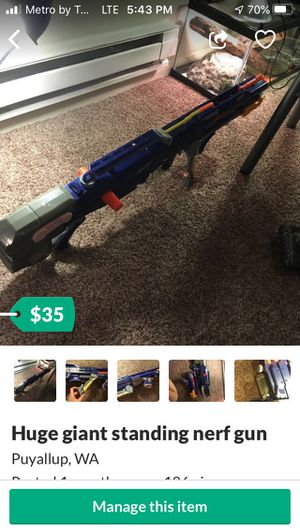 Giant nerf gun for Sale in Puyallup, WA