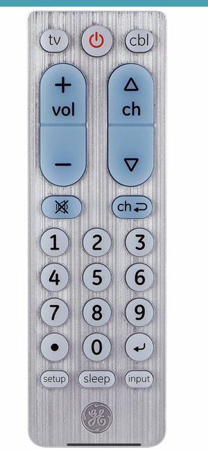 GE big button universal Remote control for Samsung /vizio/ Lg/Sony sharp /roku /Apple TV /Rca /panasonic for Sale in Los Angeles, CA