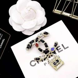 Fashion Style Black Brooch With Locker Charms for Sale in Newark,  CA