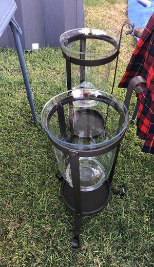 (2). Glass Hurricane holders for Sale in Tempe, AZ