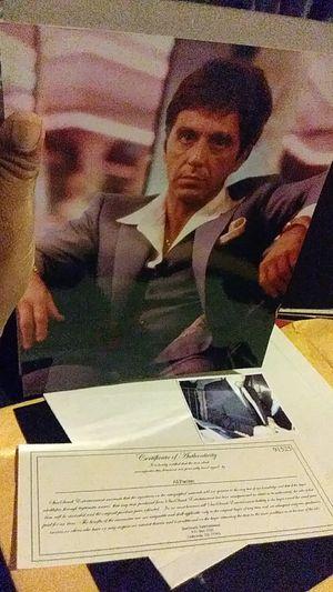 Photo Al Pachino sigjned with coa and mini pic for Sale in San Antonio, TX