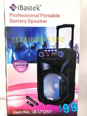 🎄 GET READY 🎄 Portable Bluetooth Karaoke Speaker • Wireless 🎤 Included • Loud 4,800 Watts* 💥 Mucho Party for Sale in Carson, CA