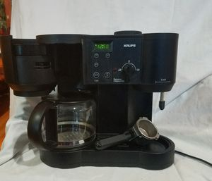 KRUPS CAFFE BISTRO 10-CUP COFFEE/4-CUP ESPRESSO MAKER for Sale in Chicago, IL