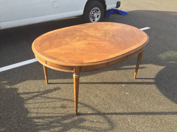 Wood Dining Table With 3 Leaves - Will Deliver