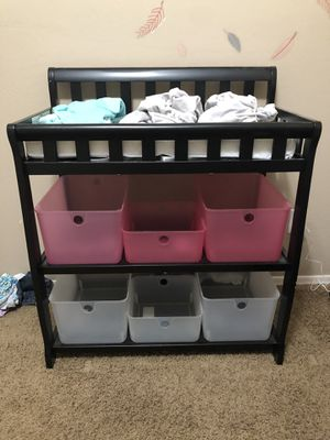 Delta baby black changing table w/extras for Sale in Surprise, AZ