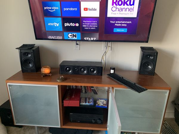Reduced Sony 5.1 surround sound system with remote and Boston Acoustic speakers
