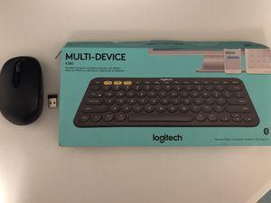 K380 Wireless Bluetooth Keyboard & Wireless USB Microsoft Mouse for Sale in Havertown, PA