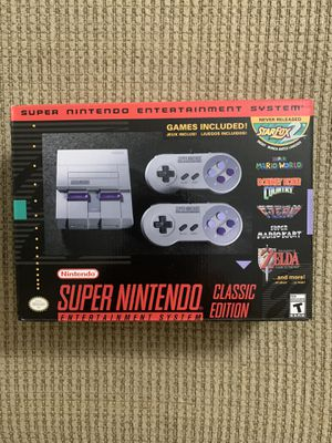 Super Nintendo Console Classic Edition (discontinued mini ) for Sale in Delray Beach, FL