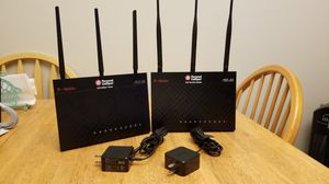 2 Asus T-Mobile AC-1900 flashed to Asus RT-AC68P and RT-AC68U. Dual band routers. for Sale in Hollywood, FL