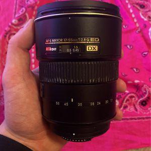 Nikon AF-S NIKKOR 17-55mm for Sale in Manteca, CA