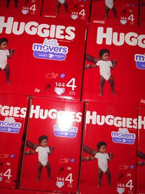 HUGGIES SIZE 4 $33 CADA 1 CAJA PRECIO FIRME RRECOJER EN SANTA ANA CA NO ADOMISILIO 👁️👀 for Sale in Santa Ana, CA