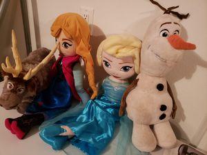4 piece Frozen Plush Set for Sale in Ruskin, FL