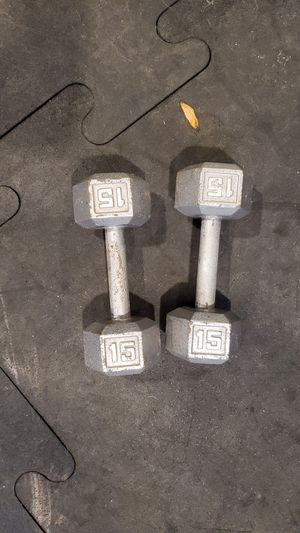 Pair of 15 pound dumbells for Sale in Chesapeake, VA