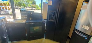 Black GE Kitchen Package for Sale in Meadows, CO