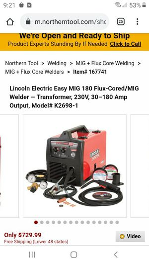 Lincoln 180 welder for Sale in Tacoma, WA