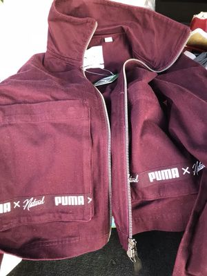brand new woman small puma jacket jean material for Sale in Boston, MA