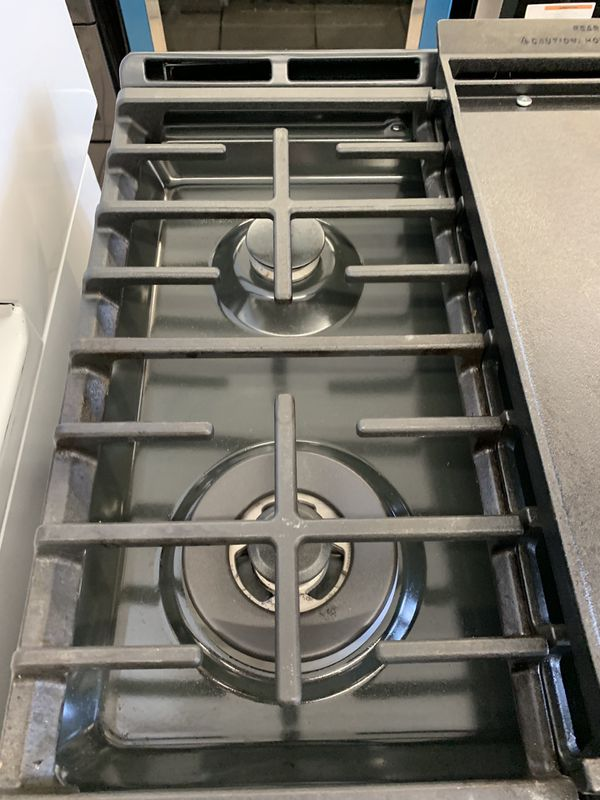 GE Double Oven Slide-in Stove