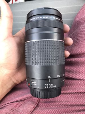 Canon - EF 75-300mm f/4-5.6 III Telephoto Zoom Lens - Multi for Sale in Charlotte, NC
