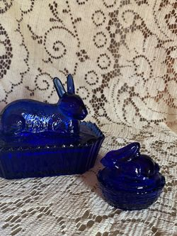 Blue Bunny Glass Figurines for Sale in Bruceville,  TX