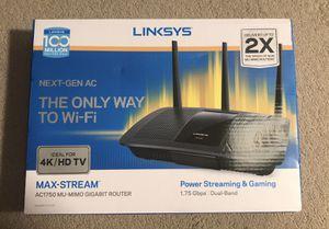 [NEW] Linksys EA7400 Max-Stream (1.75 Gbps) 4K HD AC1750 MU-MIMO Gigabit Router for Sale in Swedesboro, NJ