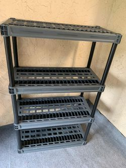 Black Four Tier Plano Shelves - See My Other Items :-) for Sale in Fort Lauderdale, FL